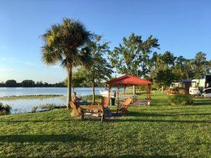 Frühstück auf Campsite Orlando